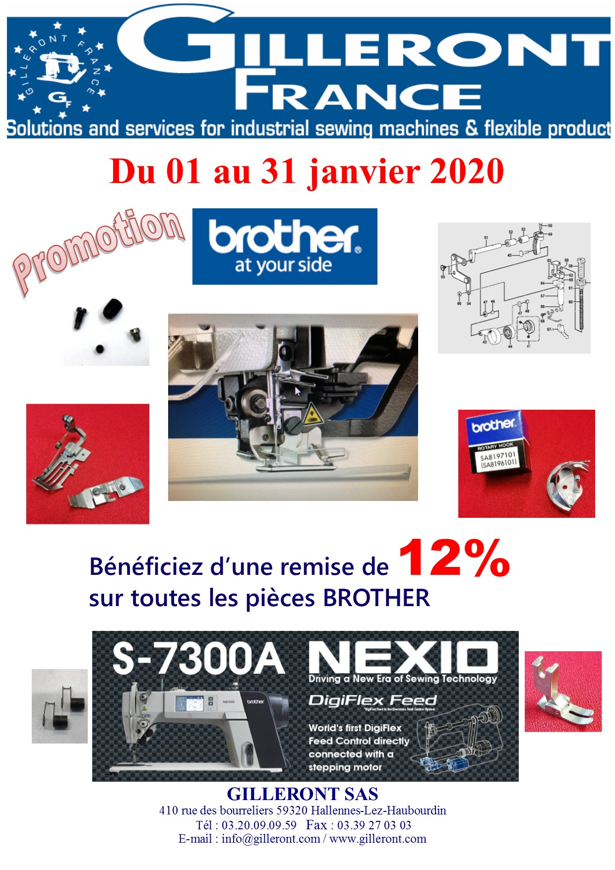 PROMOTION PIECES BROTHER JANVIER 2020
