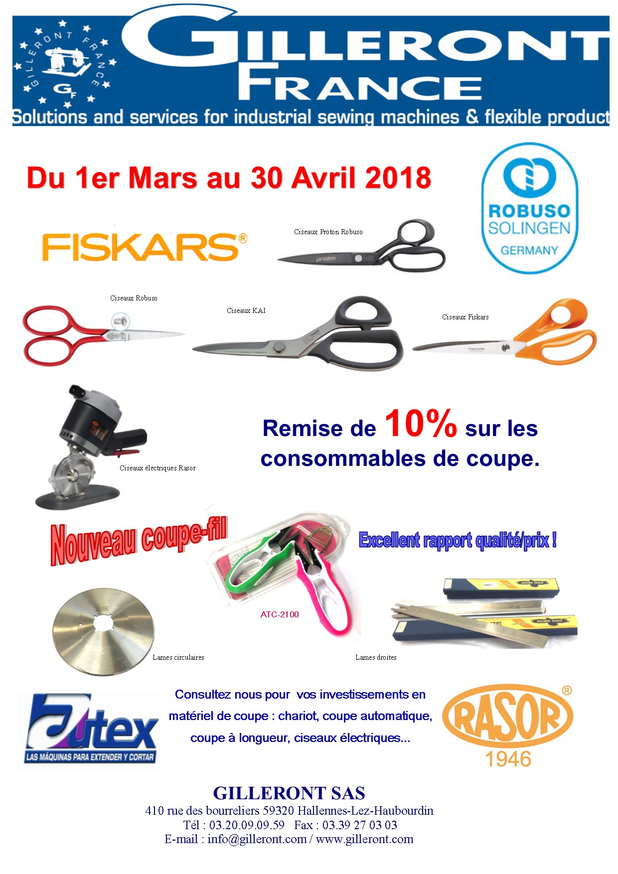PROMOTION COUPE MARS AVRIL 2018
