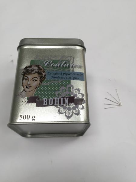 Epingles extra fines boîte de 500g (existe en formats différents)