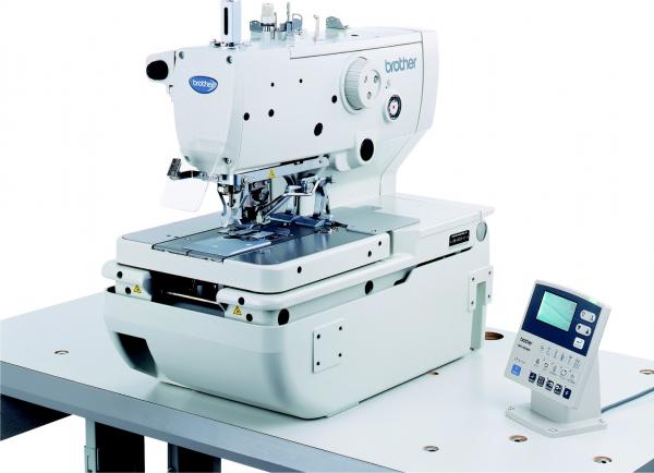 Machine boutonnière électronique à cycles programmables